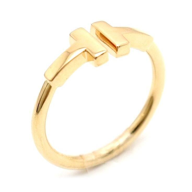 【限定製作】 (ジュエリー)TIFFANY&Co. ティファニー T ワイヤー リング 指輪 K18 ゴールド イタリア 9.5号 #9.5 (u), 可愛い生地屋レッドバタフライ 8e15815c