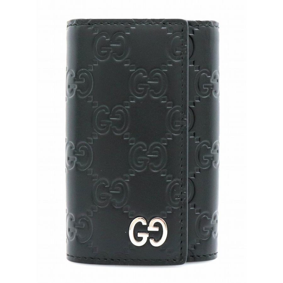 国産品 GUCCI グッチ グッチシマ GG柄 6連キーケース レザー ブラック 黒 シルバー金具 キーリング 473924 496085 (k), ドッググリッター DOGGLITTER 611e812e
