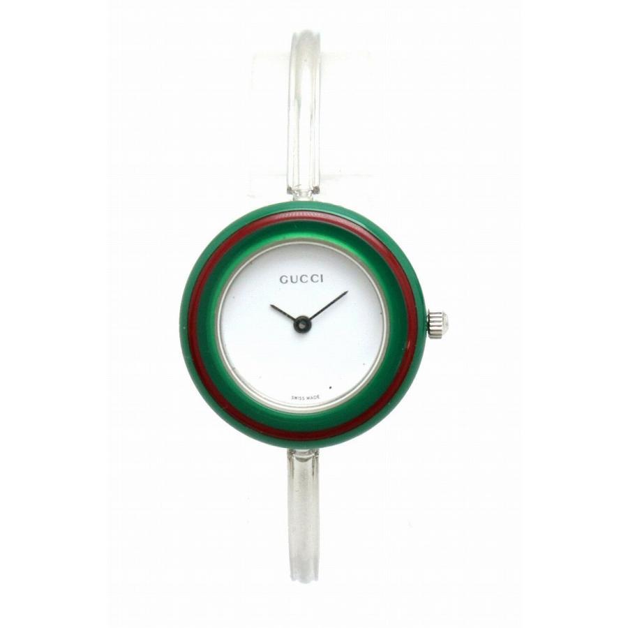 2018セール (ウォッチ)GUCCI グッチ チェンジベゼル ホワイト文字盤 SS シルバーカラー レディース QZ クォーツ 腕時計 11/12.2L (k), 家具と雑貨のMobilier-モビリエ- d1f95db3