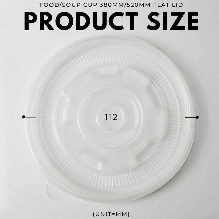 テイクアウト 紙コップ フード&スープカップ 350ml 380ml 520ml 用蓋 フラットタイプ 半透明 500枚|bmt-store|02