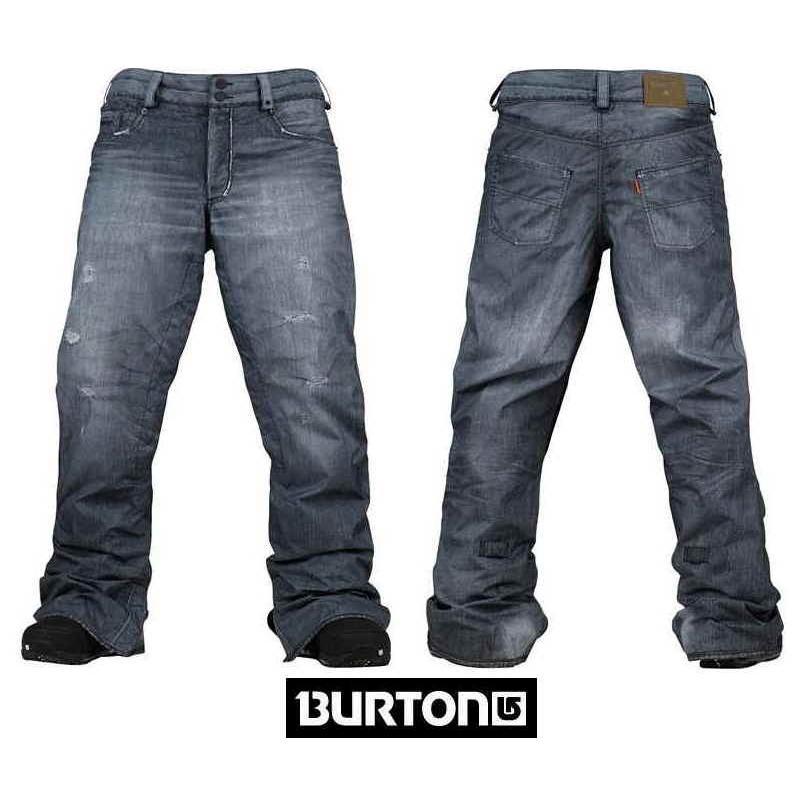 2014 BURTON バートン THE JEANS PANT TRUE 黒 PRINT プリントデニム スノーボードウエア スノボー パンツ