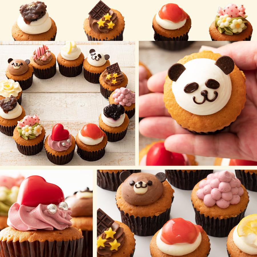 カップケーキ プチフルール12個セット 送料無料  スイーツ お取り寄せ ギフト 人気 土産 ケーキ パーティー かわいい 誕生日|bokunotamatebakoya|03