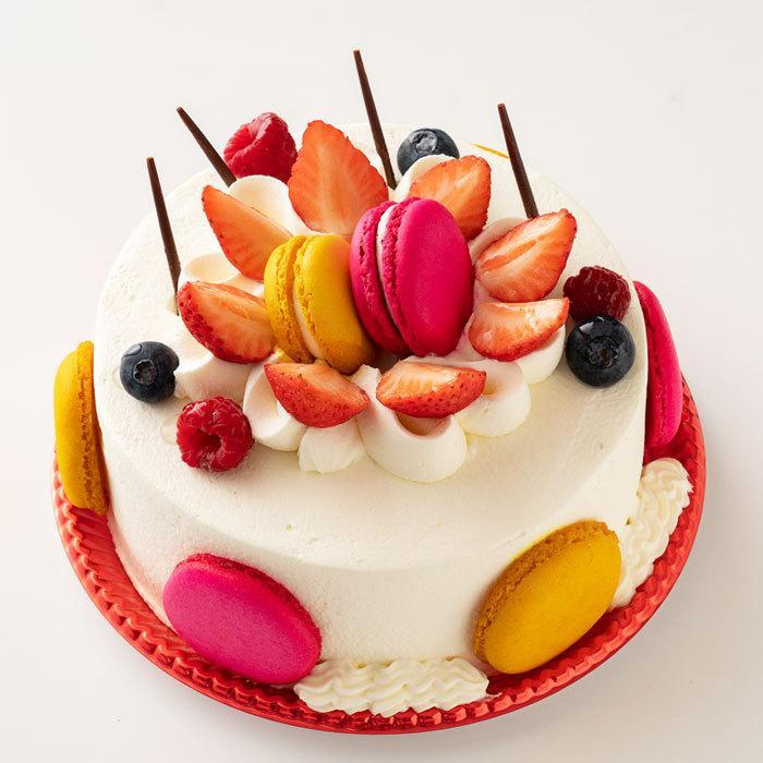 誕生日 ケーキ アニバーサリー マカロンケーキ 5号 記念日 快気祝い パーティー  お土産 同窓会 バースデー bokunotamatebakoya 02