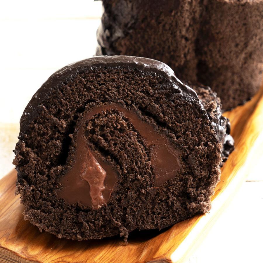 送料無料 濡羽色ひまりロールケーキ チョコロール  チョコ ケーキ 誕生日 バースデー お祝い 結婚記念日 結婚祝い 訳あり スイーツ|bokunotamatebakoya|12