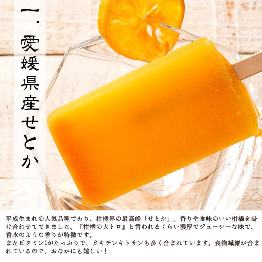アイス ギフト アイスキャンディ 愛媛県産 みかん 100% 太陽のアイス 冷やしみかん 15本 送料無料 無添加|bokunotamatebakoya|11