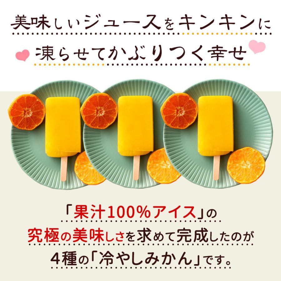 アイス ギフト アイスキャンディ 愛媛県産 みかん 100% 太陽のアイス 冷やしみかん 15本 送料無料 無添加|bokunotamatebakoya|05