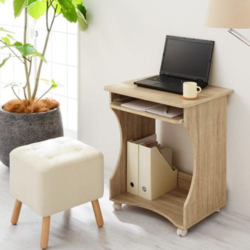 パソコンデスク オフィスデスク PCデスク パソコンラック シンプル 省スペース 木製 コンパクト サイドテーブル キャスター付き おしゃれ 収納 幅60|bon-like|12