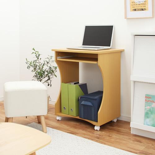 パソコンデスク オフィスデスク PCデスク パソコンラック シンプル 省スペース 木製 コンパクト サイドテーブル キャスター付き おしゃれ 収納 幅60|bon-like|14