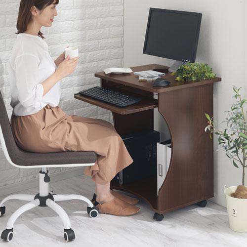 パソコンデスク オフィスデスク PCデスク パソコンラック シンプル 省スペース 木製 コンパクト サイドテーブル キャスター付き おしゃれ 収納 幅60|bon-like|15
