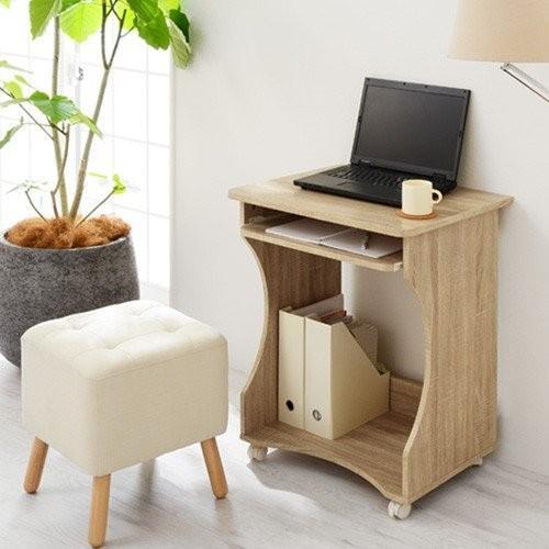 パソコンデスク オフィスデスク PCデスク パソコンラック シンプル 省スペース 木製 コンパクト サイドテーブル キャスター付き おしゃれ 収納 幅60|bon-like|20