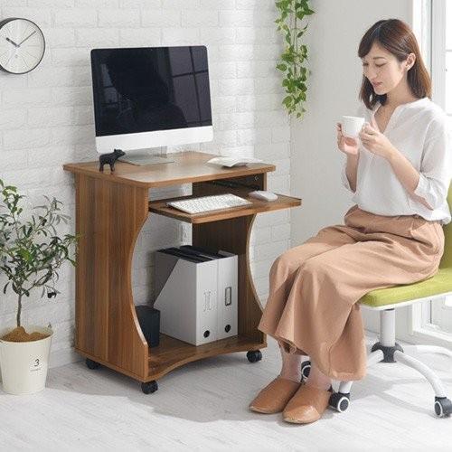 パソコンデスク オフィスデスク PCデスク パソコンラック シンプル 省スペース 木製 コンパクト サイドテーブル キャスター付き おしゃれ 収納 幅60|bon-like|21
