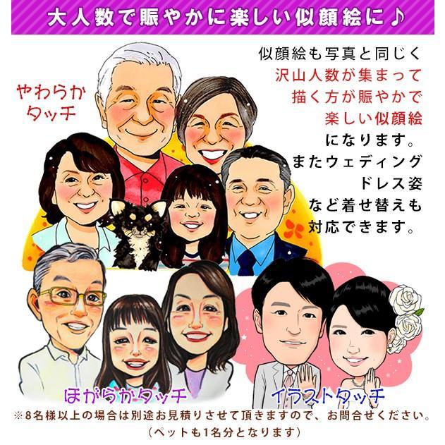 喜寿のお祝い 似顔絵ポエム 朱色色紙額 似顔絵 1〜2人用 ちゃんちゃんこを着せて描くこともできます 贈り物 男性 女性 父 母 喜寿祝い プレゼント|bondsconnect|12