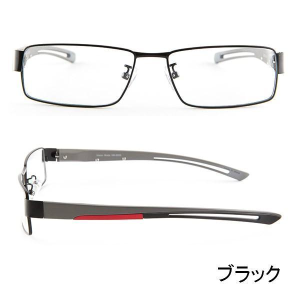 ブルーライトをカット 医療用フィルターレンズ PC用 眼鏡 めがね パソコンメガネ サプリサングラス Vision Moda(VM-0033)[スクエア](男性用)|bonita|04