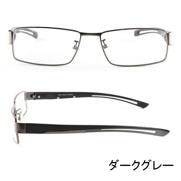 ブルーライトをカット 医療用フィルターレンズ PC用 眼鏡 めがね パソコンメガネ サプリサングラス Vision Moda(VM-0033)[スクエア](男性用)|bonita|06