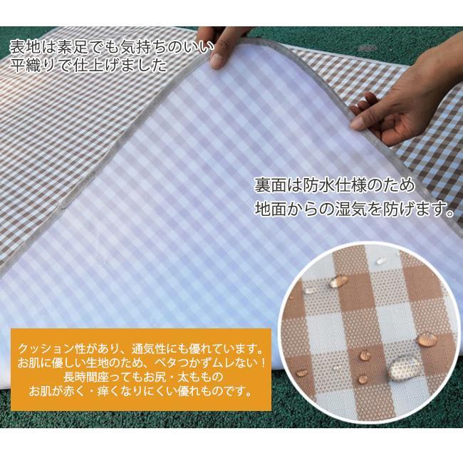 レジャーシート 防水 大きい 大判 200x200 厚手 クッション コンパクト 持ち手付き 持ち運びに便利 洗える|bonito|07