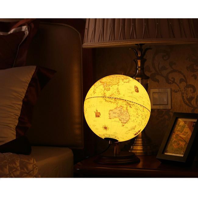 即納 地球儀 led スタンドライト インテリア アンティーク 英字表記 木製台座 おしゃれ オーナメント 卓上|bonito|16