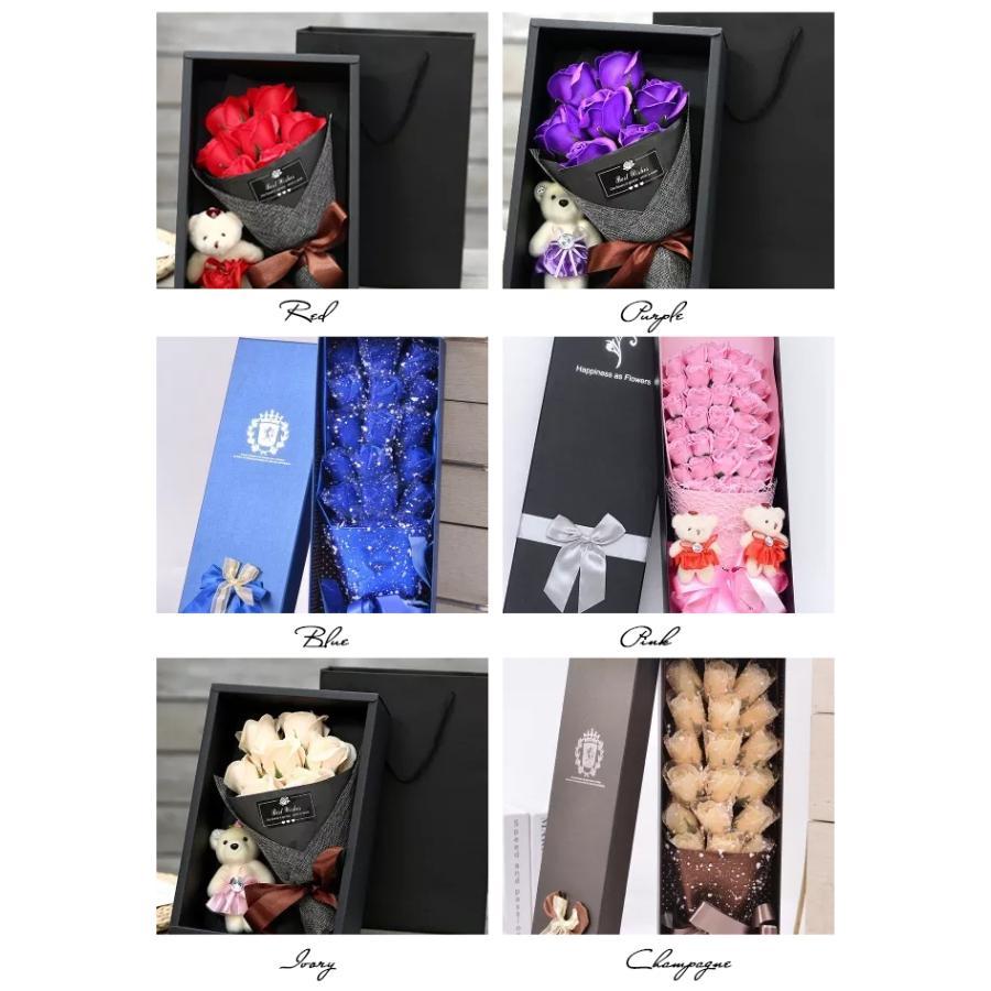 一部即納 送料無料 ソープフラワー 母の日 2021 ボックスフラワー 造花 フラワー 石鹸花 枯れない花 プレゼント バレンタイン フラワーソープ|bonito|14