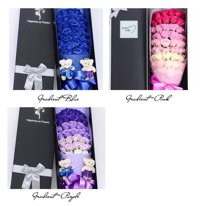 一部即納 送料無料 ソープフラワー 母の日 2021 ボックスフラワー 造花 フラワー 石鹸花 枯れない花 プレゼント バレンタイン フラワーソープ|bonito|15
