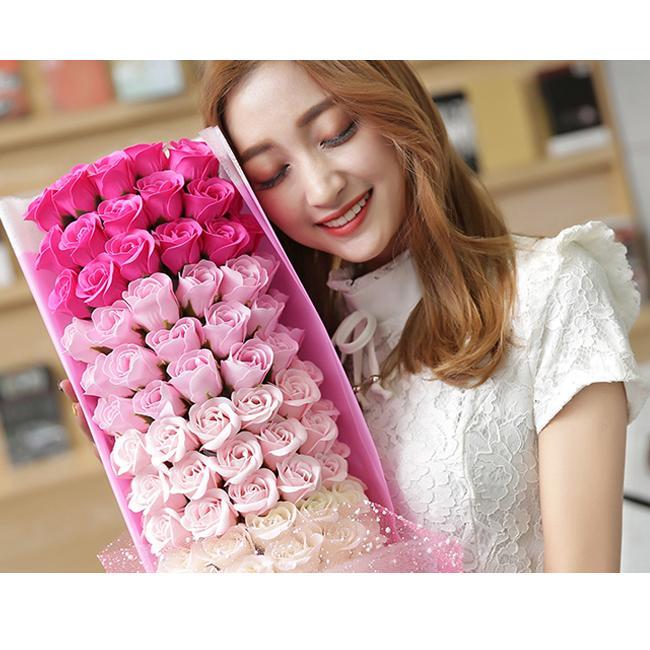 一部即納 送料無料 ソープフラワー 母の日 2021 ボックスフラワー 造花 フラワー 石鹸花 枯れない花 プレゼント バレンタイン フラワーソープ|bonito|18