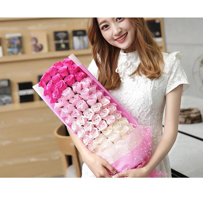一部即納 送料無料 ソープフラワー 母の日 2021 ボックスフラワー 造花 フラワー 石鹸花 枯れない花 プレゼント バレンタイン フラワーソープ|bonito|19