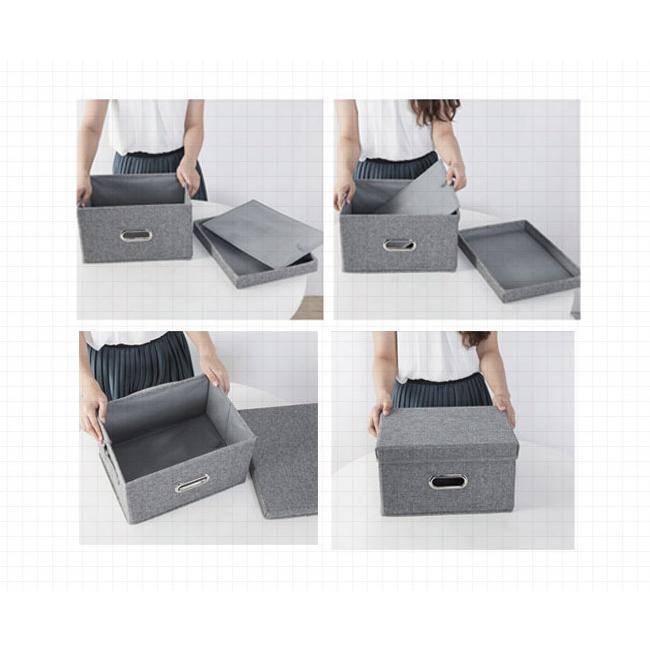 即納 収納ボックス フタ付き 折りたたみ 布 無地 北欧風 おしゃれ 収納ケース 衣装ケース おもちゃ箱|bonito|16