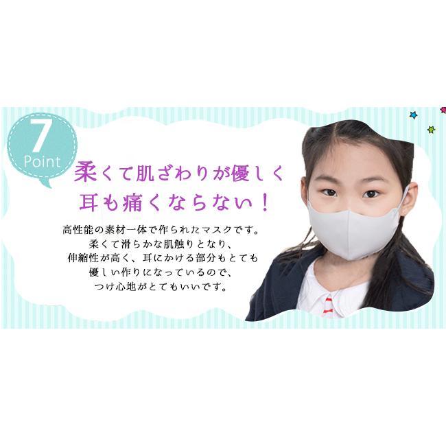 短納期 送料無料 涼感マスク 子供用 3点セット uvカット サイズ調整可 立体型タイプ 洗える 息苦しくない キッ|bonito|15