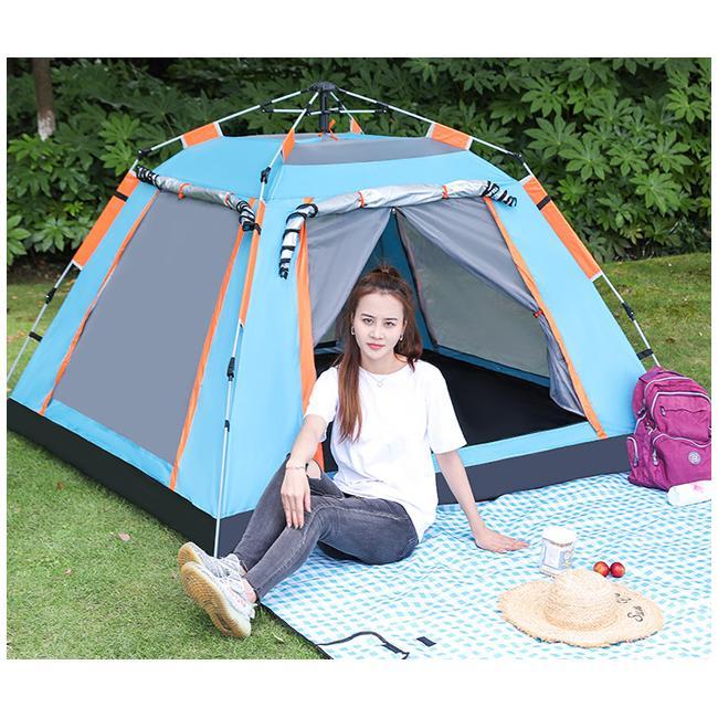 送料無料 テント ワンタッチテント UVカット 3~4人用 軽量 フルクローズ 簡単 簡易テント ドーム 日よけ 紫 bonito 12