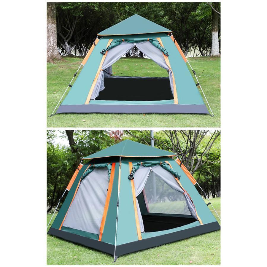 送料無料 テント ワンタッチテント UVカット 3~4人用 軽量 フルクローズ 簡単 簡易テント ドーム 日よけ 紫 bonito 13
