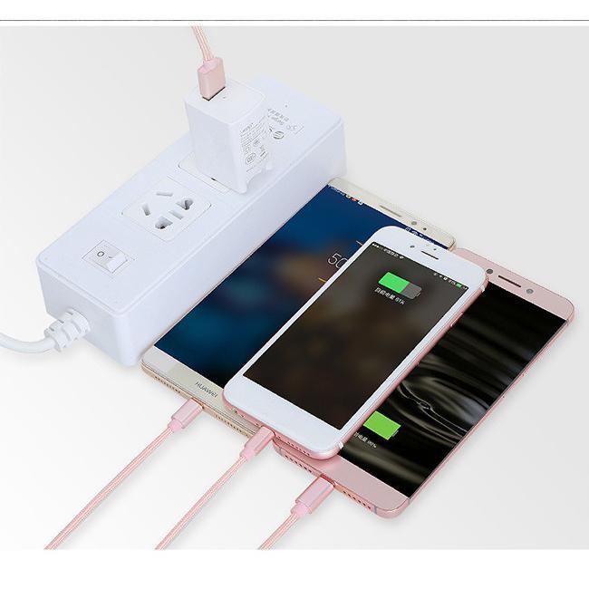 充電ケーブル 3in1 iPhone Micro USB Type-C コード ナイロン編み コード 急速 bonito 08