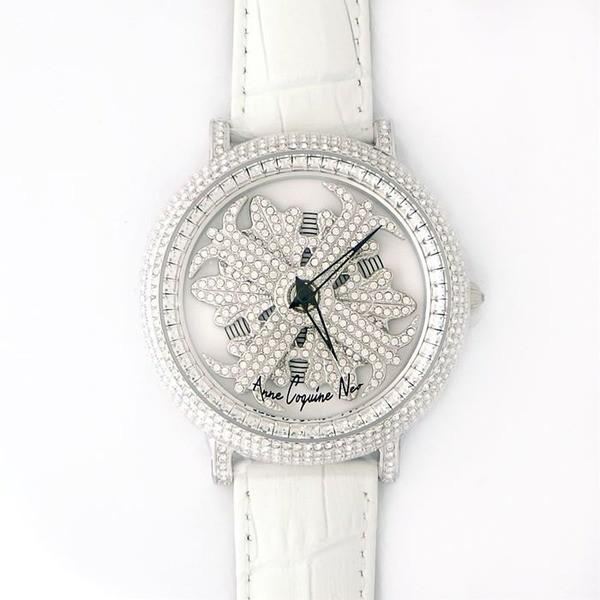 豪華で新しい アンコキーヌ ネオ 45mm バイカラー ミニクロス シルバーベゼル インナーベゼルクリアー ホワイトベルト アルバ 正規品(腕時計・グルグル時計), ドレスのpiashop b349b993
