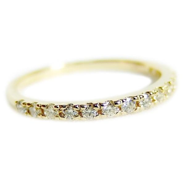 海外最新 ダイヤモンド リング ハーフエタニティ 0.2ct 8.5号 K18イエローゴールド 0.2カラット エタニティリング 指輪 鑑別カード付き, 防府市 639381d8