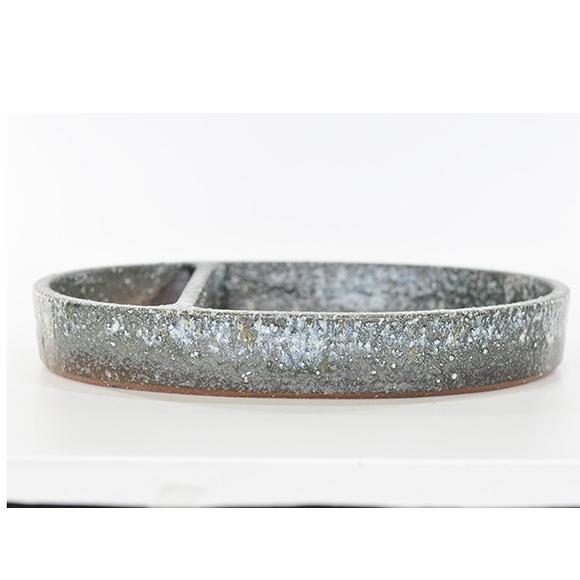 水盤 13号 ミニビオトープ 鉢 水盤白雪小判 幅39cm×高7cm 水辺 花器 水鉢 めだか 金魚