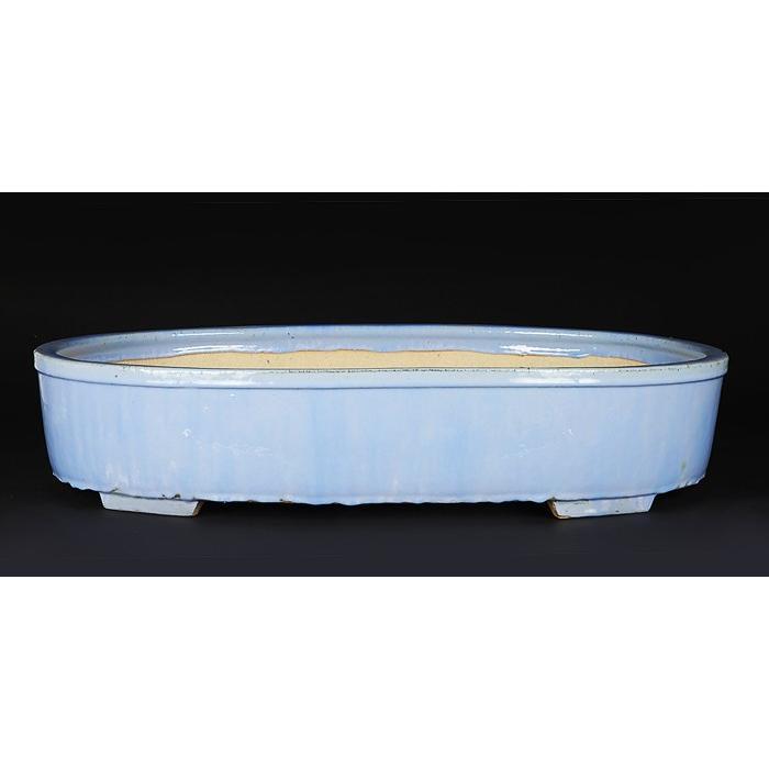 石峰雨竹製広東均釉楕円鉢