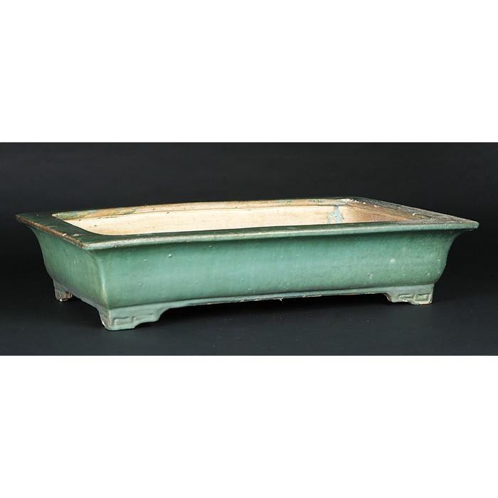 広東緑釉外縁長方鉢