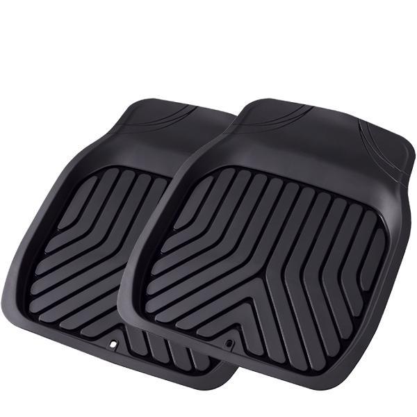 大垣産業[ボンフォーム]3D立体フロアマットトレイ【3Dプライム】バケットマット 前席(運転席・助手席兼用)用 サイズ:約48×65cm[フロント] 2枚セット ブラック|bonsan