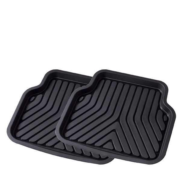 大垣産業[ボンフォーム] 3D立体フロアマットトレイ【3Dプライム】バケットマット リヤ席用 サイズ:約50×45cm 2枚セット  ブラック|bonsan