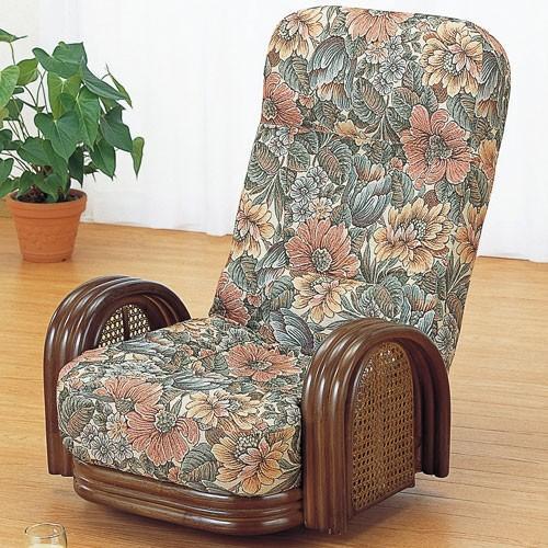 籐家具 ラタン 椅子 チェアー リクライニングチェア リラックスチェア 回転いす 籐リクライニング回転座椅子 ロー s677