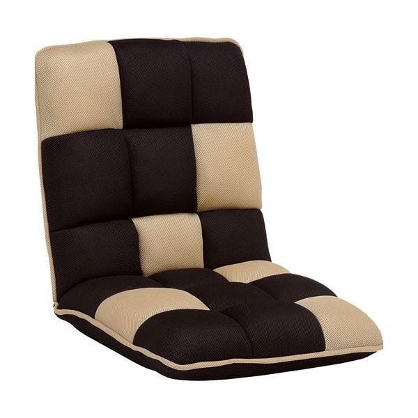 リクライニング座椅子 ブロックデザイン ブラウン 6脚組