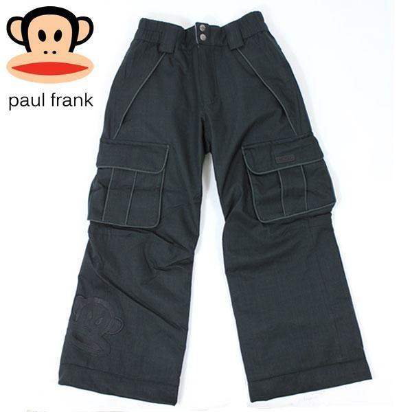 PAUL FRANK ポールフランク JULIUS INS PNT HERRINGBONE 黒 ジュリアス ジュニア スノーウェアー パンツ S,M,L 子供用