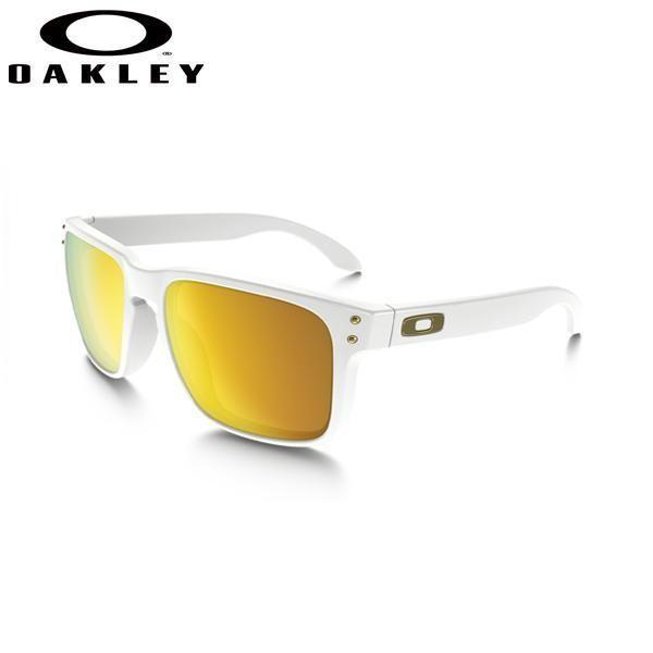 OAKLEY Holbrook (ASIAN FIT) 009244-14 オークリー ホルブルック カラーPolished 白い w/24k Irid サングラス アジアンフィット