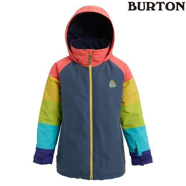 特典付 19-20 バートン BURTON Kids' Hart Jacket Light Denim Multi スノーウェア ジャケット ジュニア キッズ 子供用 2020 日本正規品 予約