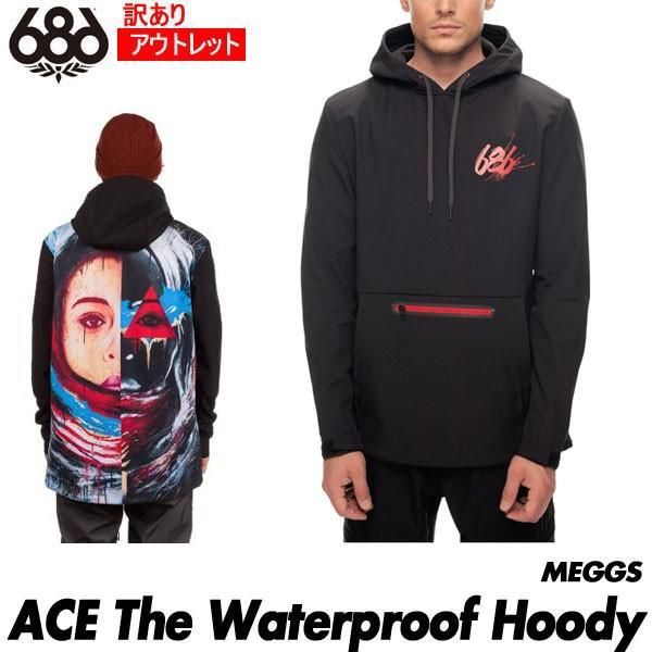 訳あり アウトレット 18 シックスエイトシックス 686 Men's ACE The Waterproof Hoody ウォータープルーフ フーディ 撥水パーカー ウェア メンズ