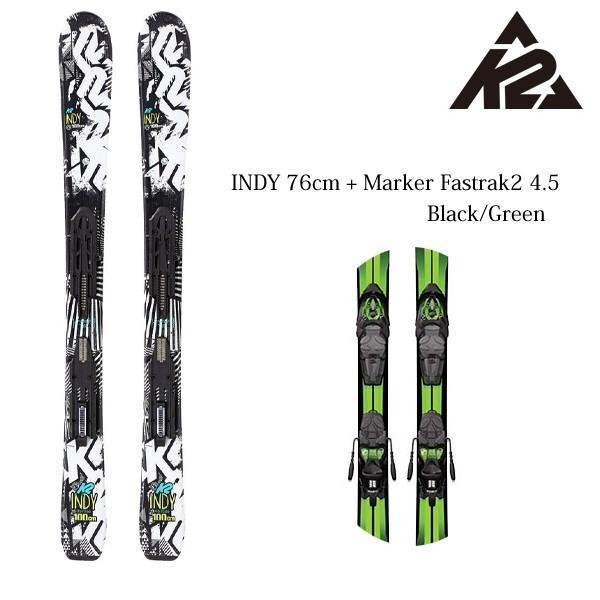 ケーツー ジュニア キッズ スキーセット インディ K2 INDY 76cm MARKER Fastrack 2 7 取付&送料無料