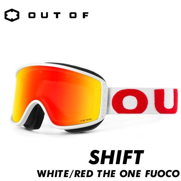 アウトオブ ゴーグル シフト ザ ワン 偏光 調光レンズ OUT OF SHIFT THE ONE 白い/赤 FUOCO 国内正規品