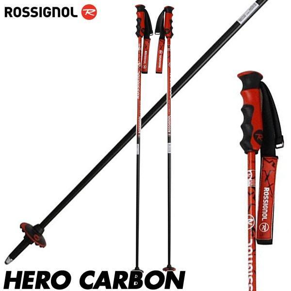 ロシニョール ヒーロー カーボン スキーポール ストック ROSSIGNOL HERO CARBON RDD1010 115/125cm 軽量