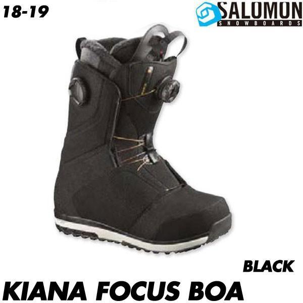 18-19 サロモン キアナフォーカスボア ブーツ SALOMON KIANA FOCUS BOA 黒 スノーボード スノボ レディース 女性用 2019