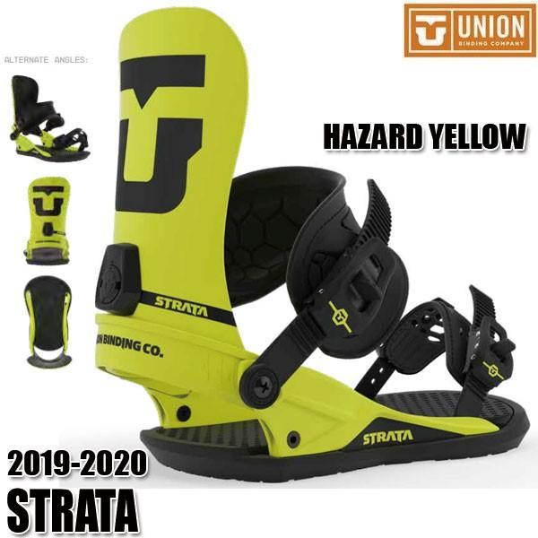 予約商品 19-20 ユニオン ストラータ ビンディング UNION STRATA HAZARD 黄 S/M/L 男性用 メンズ ユニセックス スノボ スノーボード 2020