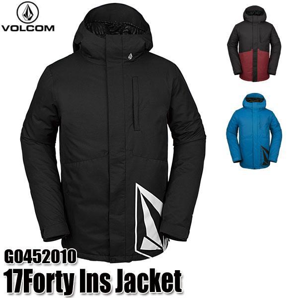 予約商品 19-20 ボルコム 17フォーティ インサレーター ジャケット Volcom 17Forty Ins Jacket G0452010 BLK/BLU/VBK スノーウェア メンズ 男性用 2020
