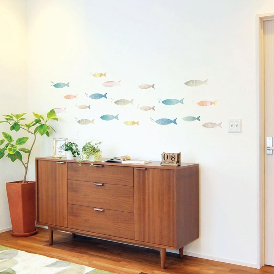 ウォールステッカー シール はがせる 壁 北欧 魚 bora