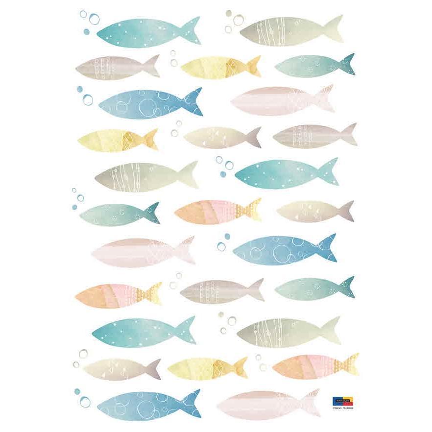 ウォールステッカー シール はがせる 壁 北欧 魚 bora 05